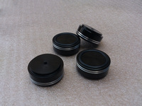 4pcs aluminum machine feet --black Diameter: 39mm, high: 17mm AMP accessories amplifier parts