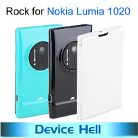 2013 Luxury Rock Brand fashion ultra-thin flip leather case cover for Nokia Lumia 1020 cell phone, Free ship+Retail package