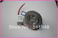 Free shipping 4W LED  Ceiling Light 400 Lumens 3000-3500K/5500-6500K Warm White/White Recessed Down Light 60pcs/lot