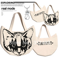 New Special Offer Japanese Magazine Popular Type Cat Head Printed Canvas Lunch Bag Fashion Handbags
