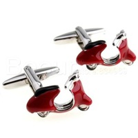 Personalisty cuff links for mens the little red motor cycle cufflinks  AB6872