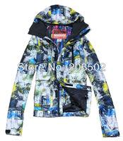 Free shipping 2013 mens burton waterproof thermal ski jacket blue alternating with yellow snowboard jacket ski parka men skiwear