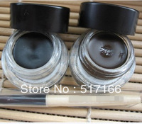 Brand Makeup BB makeup balck/brown Long-Wear Gel Eyeliner 3G BB eyes Cream ,eye liner gels,with eye brush 2in1