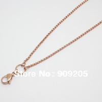 2013 Newest 80CM Rose Gold Stainless Steel Rolo Chain For Floating Locket 10 Pieces/Lot L002