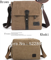 2013 Fashion British Style Retro Canvas Messenger Bag,men or women shoulder bag, canvas bag, laptop iPad bag free shipping