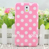 Mix Color With Polka Dot Pattern TPU Case for Samsung Galaxy Note 3 N9000