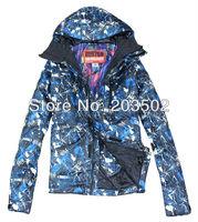 Free shipping 2013 mens burton waterproof thermal ski jacket blue snowboarding jacket lightweight ski parka men ski suit skiwear