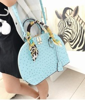 2013 trend vintage Fake Ostrich  shell bag handbag messenger bag shoulder messenger handbags famous brand Vintage bag