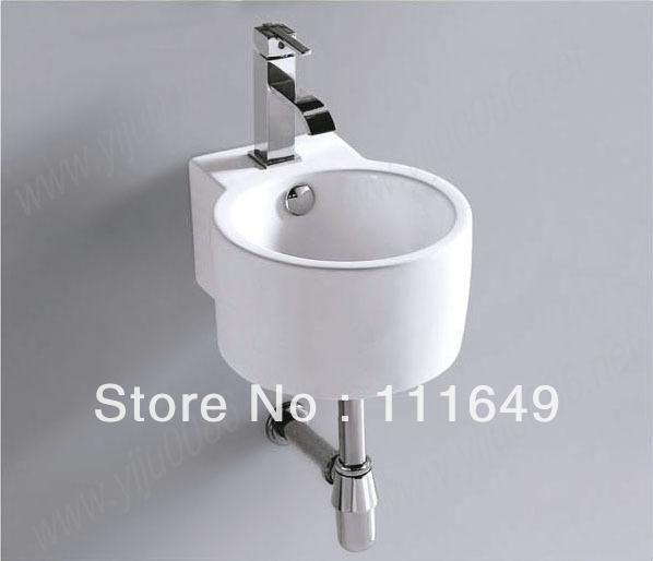 Bathroom Ceramic Small Wall Hung Wash Hand Bowl Basin Cabinet Sink