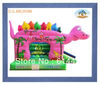 New arrive 0.55mm PVC tarpaulin Dinosaur Inflatables Bouncers/Inflatable games of Dinosaur Bouncy Castles