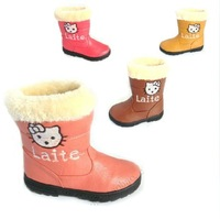 2013 new princess shoes girls shoes child cotton-padded shoes snow boots in high boots