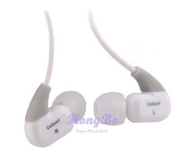 Free shipping Cogoo t02 in ear earphones sports type bass sound insulation earplugs Headphones multimedia stereo earphone(China (Mainland))