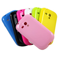 Candy Color TPU Soft Gel Skin Back Case Cover For Samsung mini i8190 Galaxy S3 III New  Free Drop Shipping JS0336