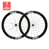 700C 50mm carbon tubular wheelset, balsat brake surface, two year warranty, YS-CC50T-W