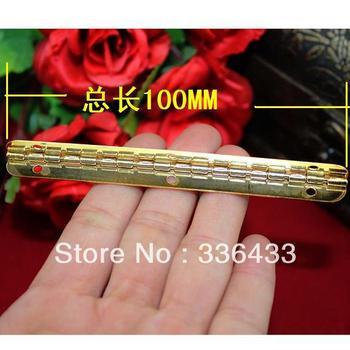 100 * 9 mm gold-like hinge bar 90 degrees inside the wooden box hinge support