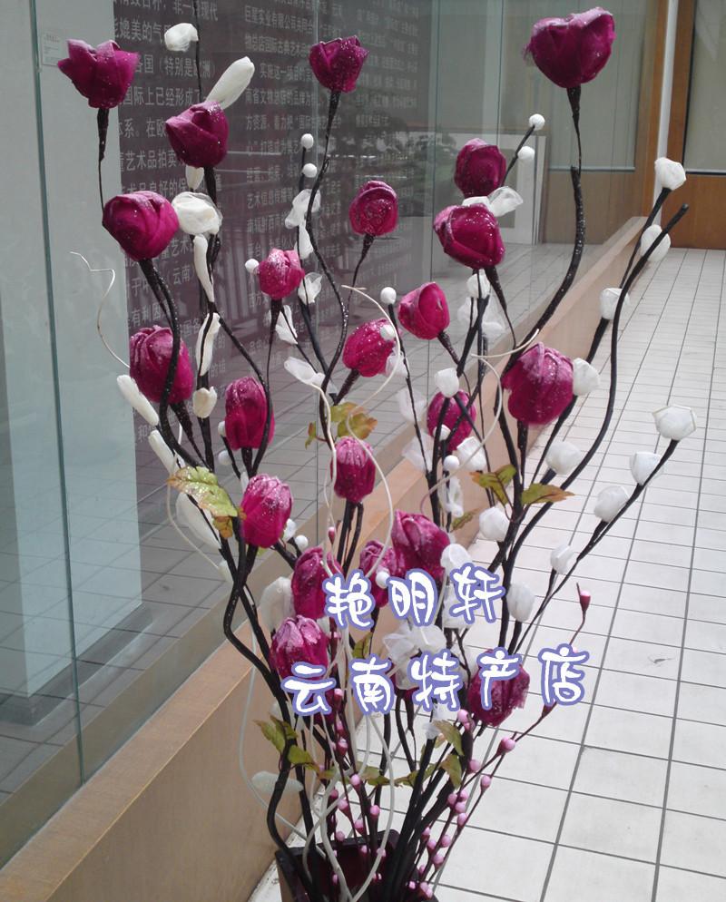 Напольные искусственные цветы сделанные своими руками