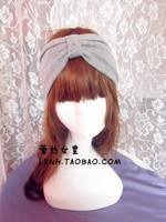 Supernova sale Rihanna favorite beauty gray wide cotton turban headband head bands for women elastic hair bands turban headbands