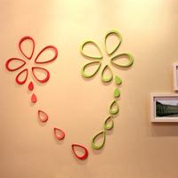 R70084 ,4 drop three-dimensional wall stickers child real wall stickers tv wall background wall decoration