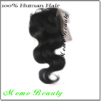 DHL Free Shipping Indian Virgin Hair Closure Black Free Part Bleached Knots Body Wave Lace Part Closure Hot Sale Free Shipping