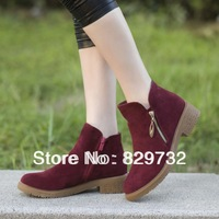 Free shipping 2013 Autumn women winter boots new arrival single martin boots genuine leather shoes casual flat round toe vintage