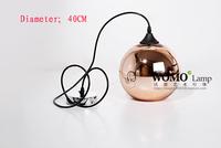 Single Tom Dixon 400mm Copper Shade Mirror Ball Suspension Pendant Light free shipping