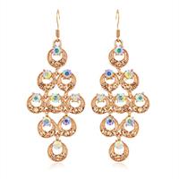 Accessories fashion long design drop earring diamond quality elegant earrings female 559