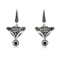 Accessories vintage diamond fox earrings black drop earring anti-allergic earring female 296