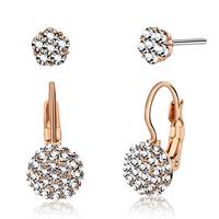 Earrings female fashion elegant shine crystal stud earring in ear set elegant accessories