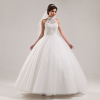 2013 new arrival wedding dress formal dress bride vintage wedding dress married princess sweet halter-neck Free Shipping1pcs/Lot