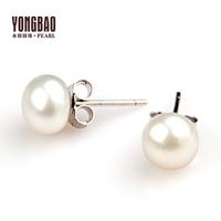 Pearl stud earring pearl shell stud earring anti-allergic pearl earrings Women