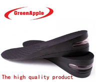 Green apple  EU women 35-40  MEN 40-46 Scalable Air Cushion PU Adjustable Increase Shoe Insoles Fit Any Shoes  5CM Height