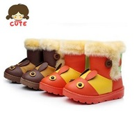 2013 hot free shipping Kids Boys and Girls Children's snow boots shoes warm winter boots  waterproof  cartoon