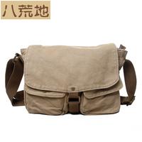 canvas  shoulder bag messenger bag casual backpack pad a4 messenger bag