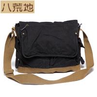 Bag eight wasteland canvas bag shoulder bag messenger bag messenger bag casual backpack man bag