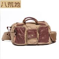 color block bag canvas bag casual bag waist pack  bag messenger bag 6703