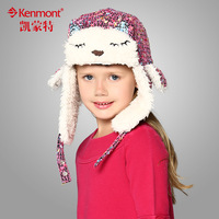 free shipping 2013 new kenmont Child autumn and winter hat cat ears lei feng cap cartoon halloween thermal female child hat 1407