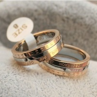 Wholesale rings for men brand month rotatable ring rose gold plated rings korean couples rings for men women US Size 7,8,9 sale
