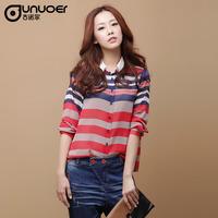 2013 autumn women's shirt ol elegant stripe slim top chiffon long-sleeve shirt