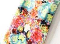 summer symmetry circulating doodle print fancy flower women's vintage printslim cotton sleeveless Casual mini dress sundress