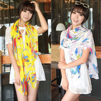 fashion and popular colorful feather printing chiffon scarves, big size shawl for decoration, ladies silk scarf