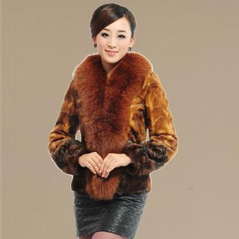 Шуба норки естественно норки борьба норка сверхбольших женский мех лисы кожаное пальто куницу пальто женщины