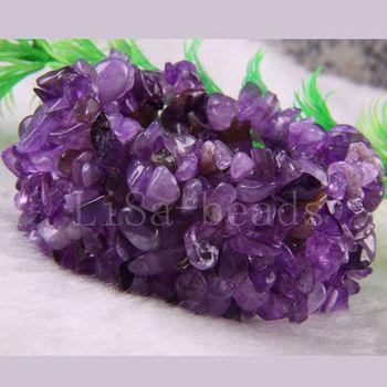 "Модный Jewelry Stretch Weave Natural Фиолетовый Amethyst Bracelet 7"" 1Pcs H042"