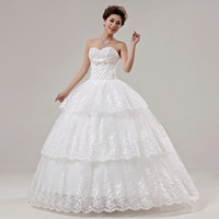 2013 new arrival wedding dress sweet princess wedding dress tube,Free shipping,1 piece/lot