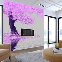 Mural modern brief pink mural wallpaper wallpaper tv wall