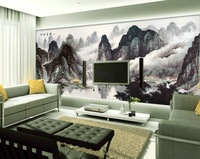Mural wallpaper tv wall background wall chinese style ink painting