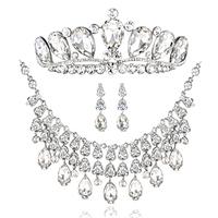 Guangcai colour bride vintage chain sets rhinestone necklace accessories wedding accessories jewelry set
