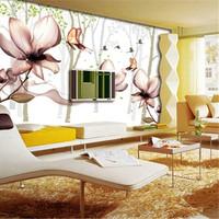 Wallpaper wallpaper tv abstract flower personality non-woven wallpaper mural