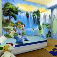 Mural wallpaper child real blue landscape