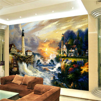 Fashion large mural wallpaper tv wall background wall oil painting