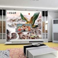 Mural landscape wall tv wall wallpaper